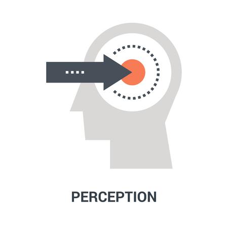 perception icon concept Çizim