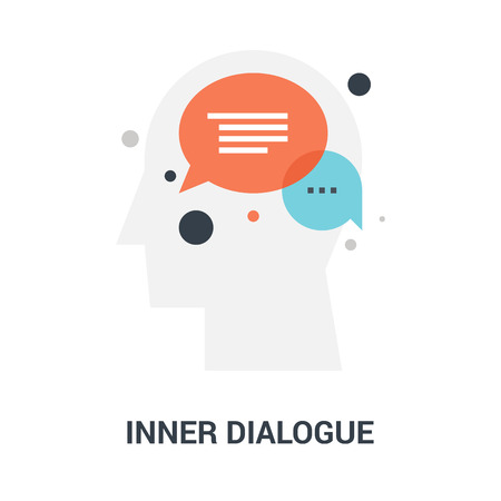 inner dialogue icon concept