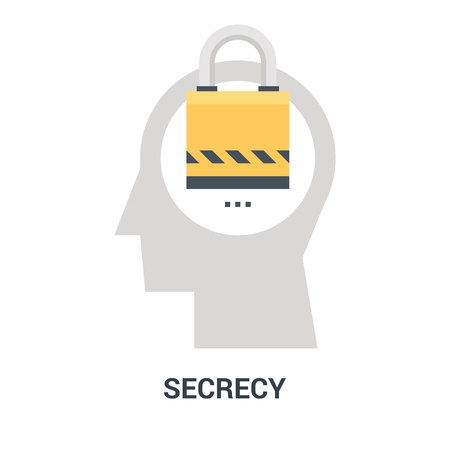 secrecy icon concept