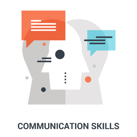 communication skills icon concept
