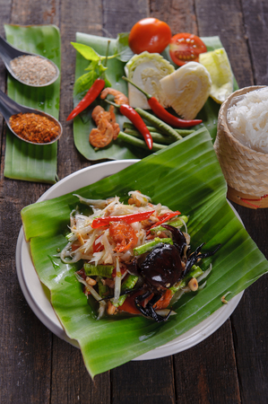 SomTam, Spicy papaya salad with salted crab