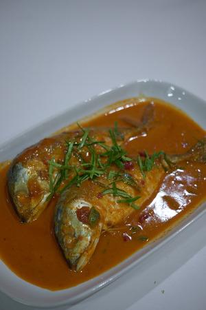 Thai Food : Choo chee Pla Too (Mackerel in thai red curry sauce)