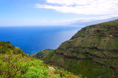 Ruiz ravine is beautiful ravine of Tenerife for trekking. Canary Islands, Spain.