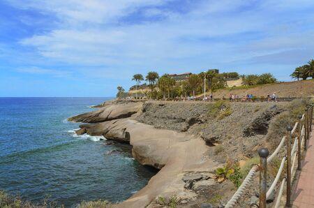 Coastal promenade in Costa Adeje,  in the south of Tenerife near El Duque beach