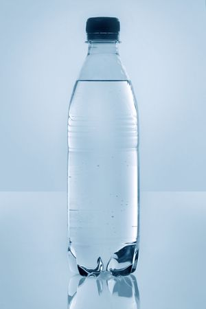 Isolated Plastic Bottled Water with No Label Banco de Imagens - 4071696