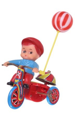 windup: Retro Boy on a trike wind-up toy.
