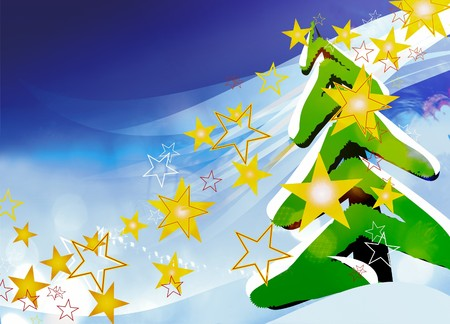 New Year  christmas greeting card