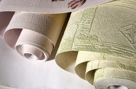 rolls of a wallpaper