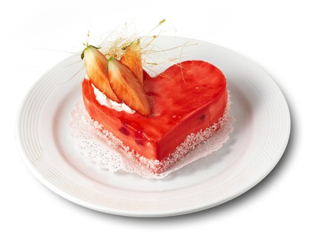 heart-shaped cakes on the plate