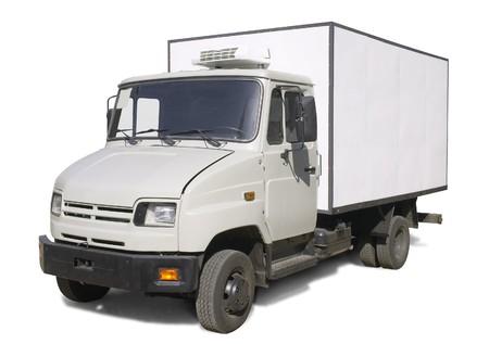 camion con carro frigorifero Archivio Fotografico - 7369228
