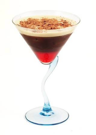 musetti: Coffee cocktail in blue glass