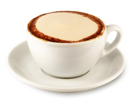 musetti: cap of cappuccino Stock Photo