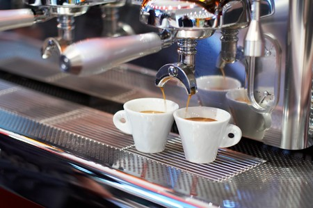 two coffee cups on The coffee devicemachine #2