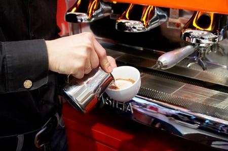 Coffee house. The barman prepares for cappuccino. #2 Stock Photo