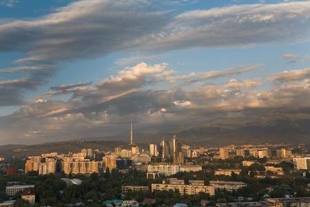 General view of the Almaty - South capital of Kazakhstan Stock Photo