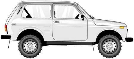 side view of small russian SUV  NIVA  Illustration