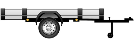 side view of vehicle trailer