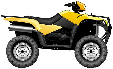 bikes: side view of quad vehicle Illustration