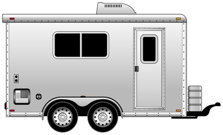 trailer: side view of mobil home Illustration