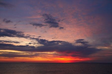 The sunrise at Alakol lake