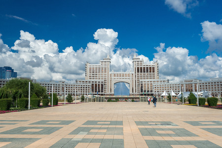 Center of capital of Kazakhstan - Astana. Building of KazMunayGaz