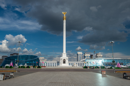 Square and the monument of Independence. Astana. Editorial