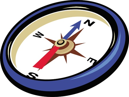 a simple draw of compass (vector)