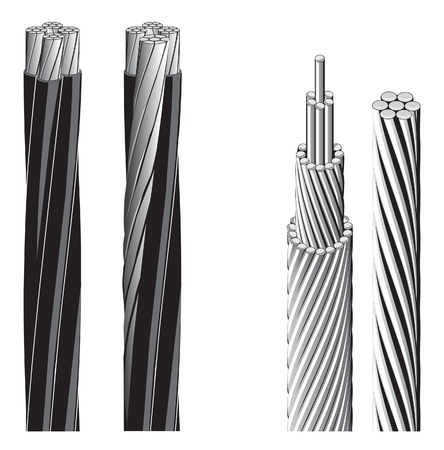 Aluminum electrical cable (vector figure) Illustration
