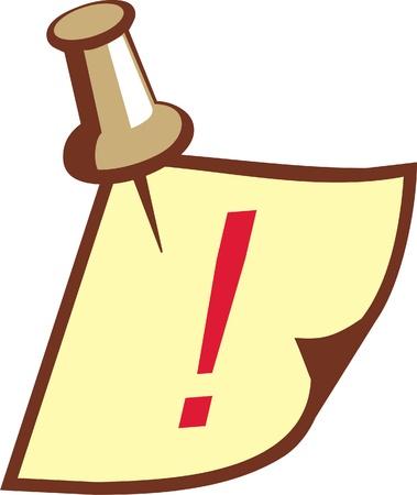 thumbtack: reminder with thumbtack (vector)
