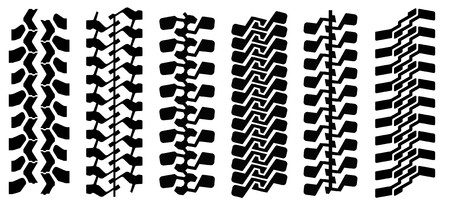 Track of mud-terrain tyres (can make any length) Illustration