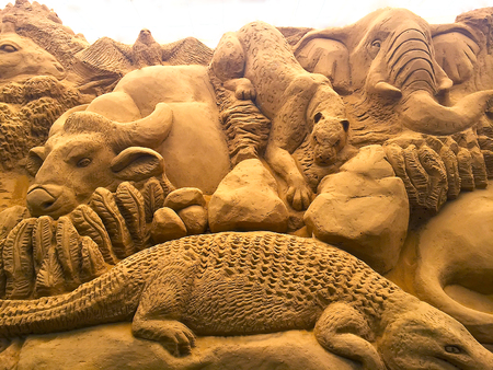 Sand art in Indian beach