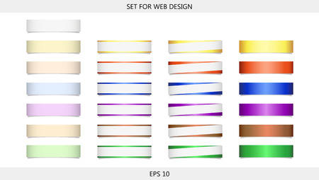 subtitle: Set of 25 multicolored pieces of paper with small shadow for design and decoration