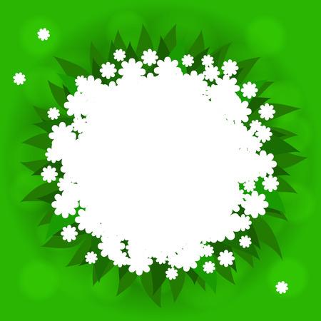 splashy: Bright with lush grass andbuch of white flowers