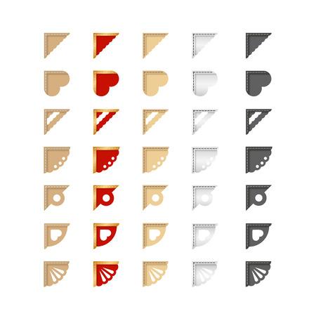 フォト アルバム内の写真の装飾の色のコーナーの設定します。