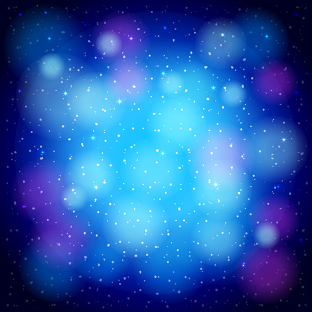 solemn: Resumen de fondo azul con c�rculos, estrellas y brilla Vectores