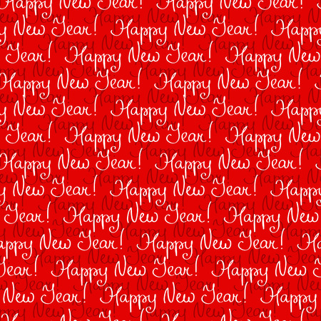 congratulatory: Festive seamless pattern with congratulatory regards of Happy New Year Illustration