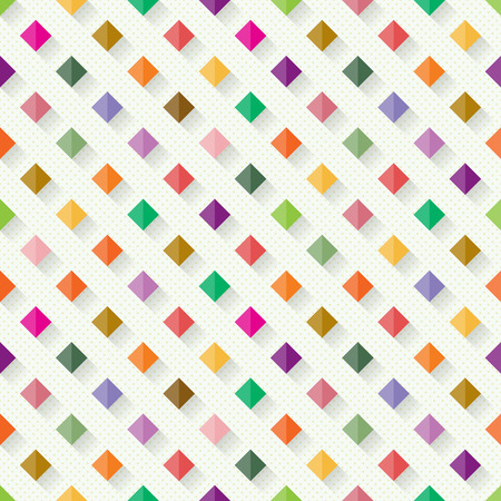 Seamless geometric pattern from colourful rhombs with shadow