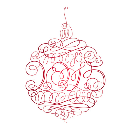 ornamented: Ornamented Christmas decoration with inscription 2015 in the center Illustration