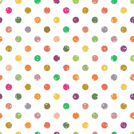 Seamless geometric pattern with colourful circles