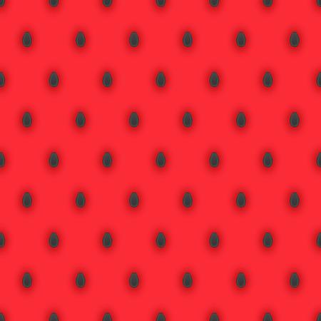 펄프: 어두운 수박 씨앗과 밝은 분홍색 수박 펄프와 원활한 패턴