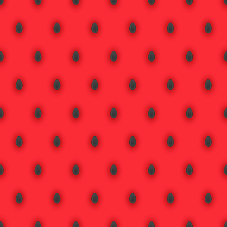pulp: Seamless pattern with dark watermelon seeds and bright pink watermelon pulp