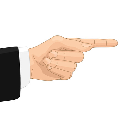directive: Hand with directive gesture