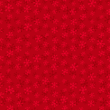 Festive red seamless pattern with snowflakes