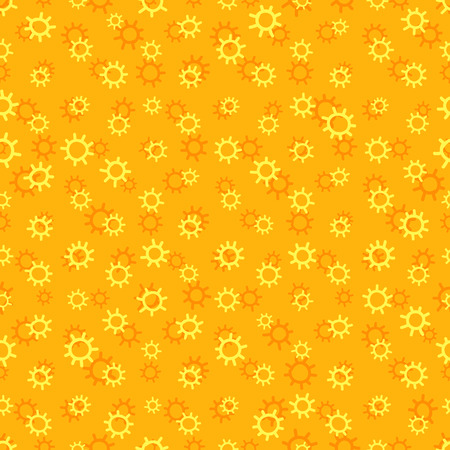 uninterrupted: Yellow sunny seamless pattern with sun