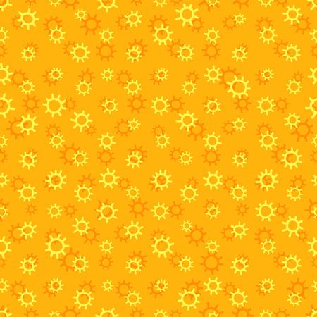 iterative: Yellow sunny seamless pattern with sun