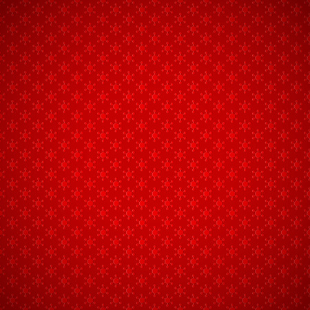 festive background: Red festive background of seamless pattern with stylized snowflakes, and vignette