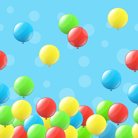 mirth: Seamless festive background with colored balloons Illustration
