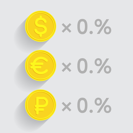 batch of euro: Stacks of gold coins with dollar, euro and ruble signs respectively as elements of financial business-formulas. Tax percentage, profit interest and other economic indicators
