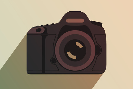 reflex camera: Modern professional camera. Equipment for professional photography. Tinting effect