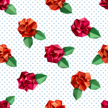 crumpled: Seamless pattern with flowers, imitating crumpled paper Illustration